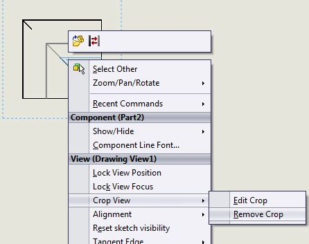 sketchup layout crop view solidworks tutorial cropping a drawing view jensen