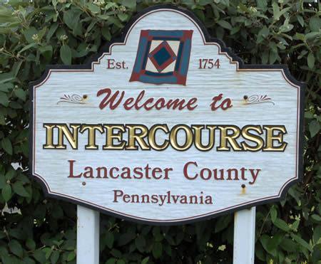 weird town names in usa village of intercourse pa lancaster county pennsylvania