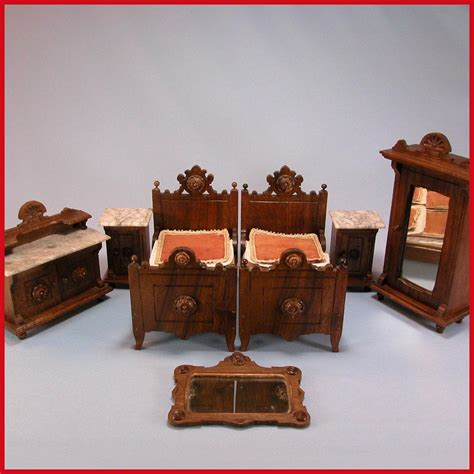 luxury doll house 7 pc antique german dollhouse luxury bedroom suite mid victorian from