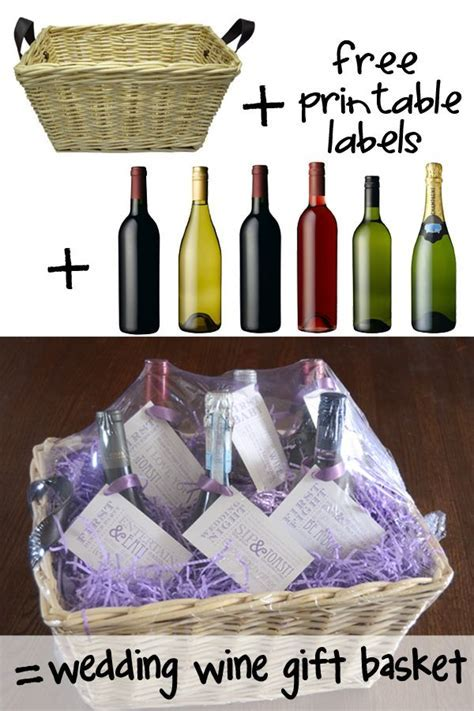 95 best Diy wedding wine basket ideas images on Pinterest