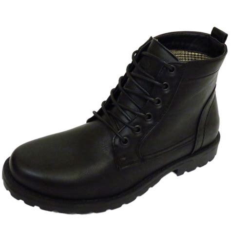 mens designer lace up boots mens black ex designer lace up combat army ankle
