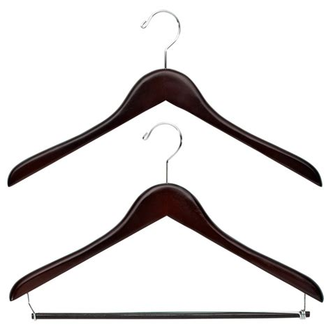 Wood Closet Hangers by Premium Walnut Wooden Hangers The Container Store