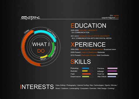 graphic design website maker infographic resume new type of resume for creative