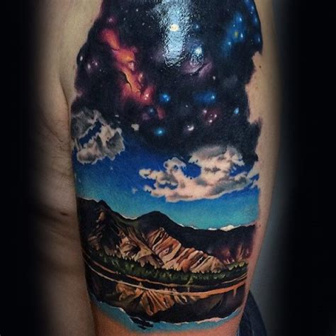 sky tattoos 70 sky tattoos for atmosphere design ideas