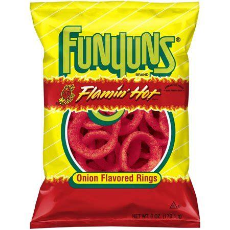 flamin hot funyuns funyuns onion flavored rings flamin hot 6 oz walmart
