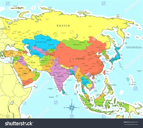 map of countries of asia a map of asia with countries and capitals all world maps