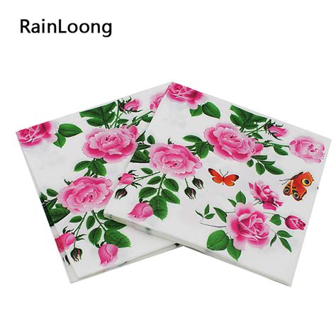 Decoupage Tissue Paper For Sale - aliexpress buy rainloong floral paper napkins