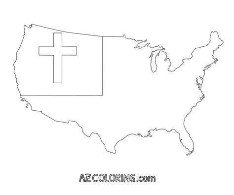coloring page of christian flag christian flag coloring page coloring home