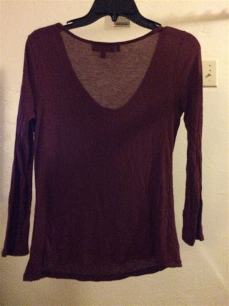womens xs rhinestone wine colored cowl neck