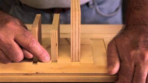 joinery  cut dado joints   size