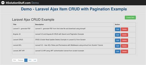 installing laravel bootstrap laravel 5 ajax crud with pagination exle and demo from