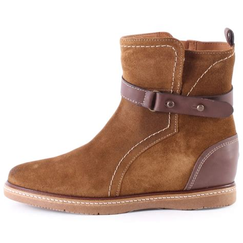 hilfiger tahlea 1cw womens biker boots in brown