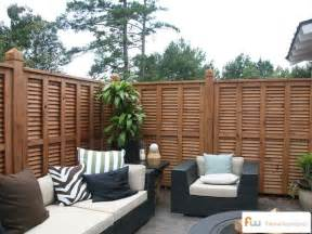 Fence For Patio by Another Angle Of A Beautiful Custom Wood Privacy Fence