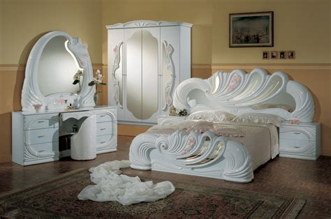 Italian White Bedroom Furniture vanity white italian classic 5 bedroom set