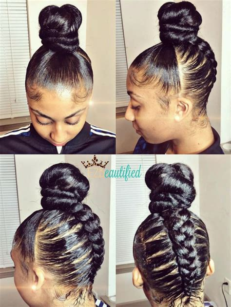 images of black braided bunstyle with bangs in back hairstyle 97 best flawless hair buns updo s images on pinterest