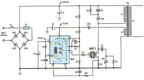schema elettrico alimentatore switching softmax alimentatori line flyback