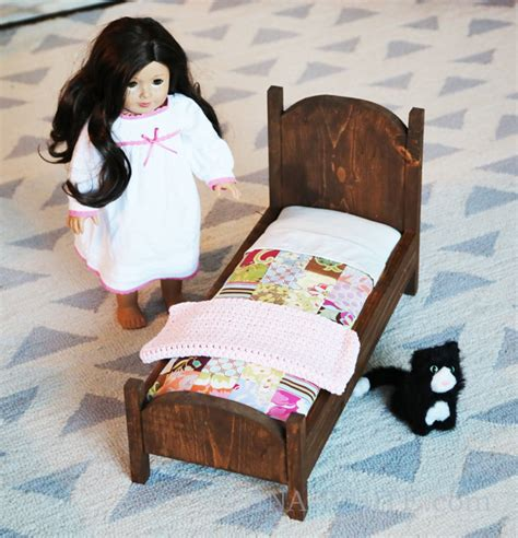 How To Make A American Doll Bed by White Vintage Style American Doll Bed Diy