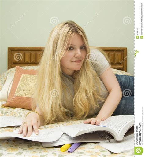 studying in bed studying in bed royalty free stock image image 5789766
