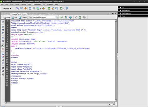 membuat web html sederhana dengan dreamweaver dont just talk it membuat web sederhana dengan