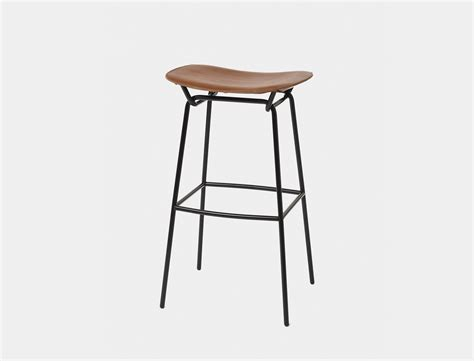 Leather Sling Bar Stool by Stahl Band