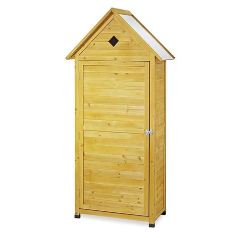 armadietti legno armadio da esterno in legno portascope e attrezzi per balcone
