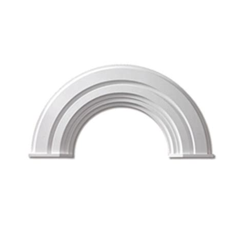 Home Depot Decorative Trim Fypon 36 In X 18 3 4 In X 2 3 8 In Polyurethane Half Arch Decorative Trim With End Cap
