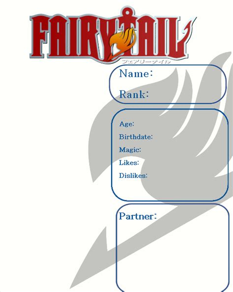 fairy tail template www pixshark com images galleries