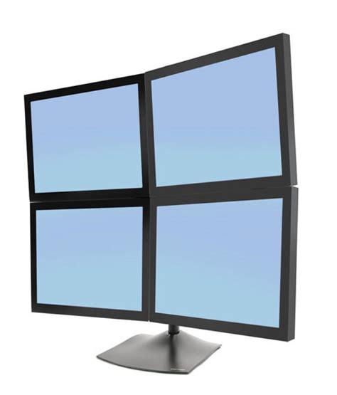 ergotron ds100 quad monitor desk stand ergotron ds series ds100 quad monitor desk stand
