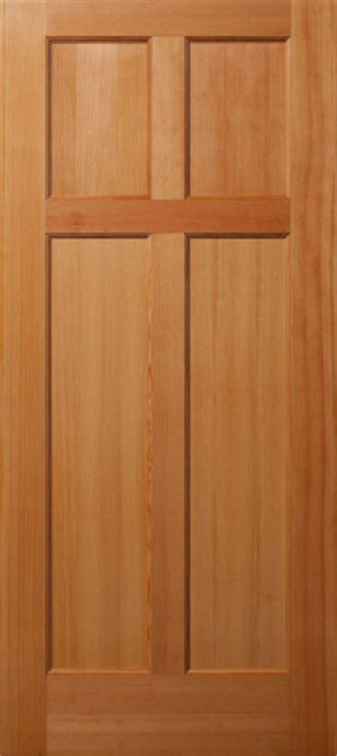 Vertical Grain Douglas Fir Reverse 4 Panel Interior Wood Wood Grain Interior Doors