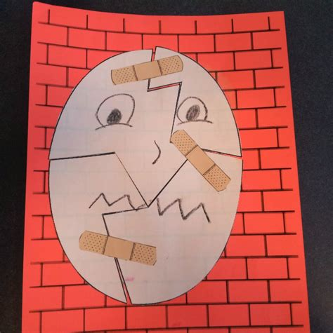 humpty dumpty puzzle template what happens in storytime goose