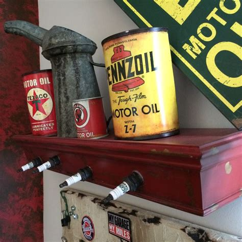 Antique Car Decor by The Other Shelf I Made Out Of Spark Plugs Vintage Car And Truck Decor Decorations Cave