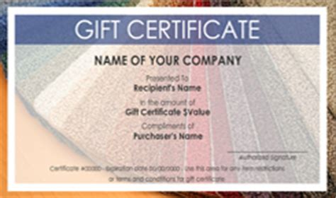 house cleaning gift certificate template carpet and flooring gift certificate templates easy to