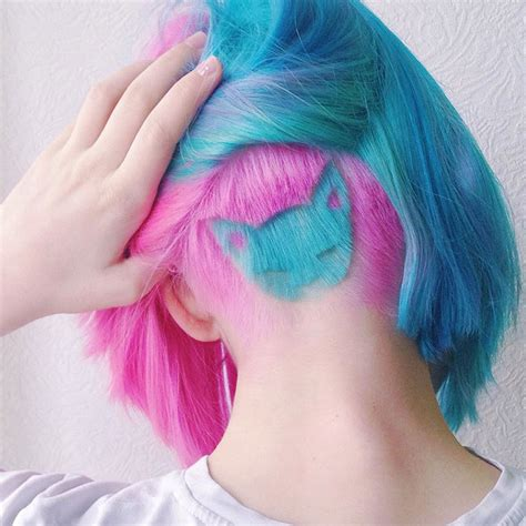 always cute rainbow models rainbow cat undercut is the hottest new hairstyle on