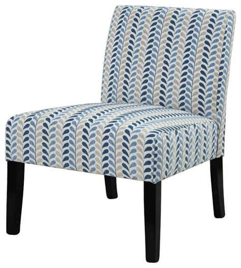 coaster style armless accent chair in leaf