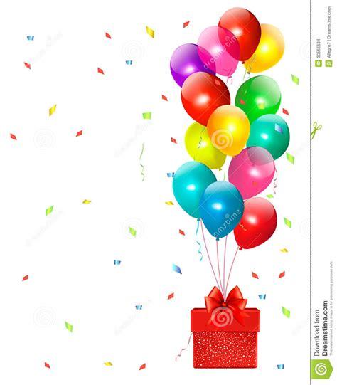 imagenes de regalo con globos deamor fondo del d 237 a de fiesta con los globos y el regalo
