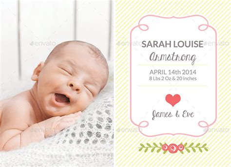 Template Birth Announcement Birth Announcement Template Baby By