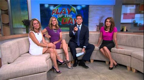 Amy Robach Lara Spencer Ginger Zee Y Legs | amy robach slim legs short white dress aug 22 2013