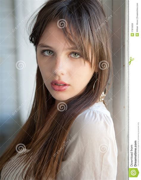 beautiful teen beautiful teenager with green eyes stock photo image