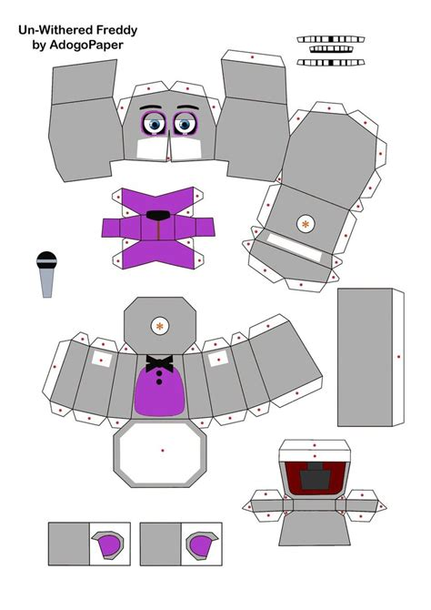 One Papercraft - funtime freddy fnaf2 papercraft part 1 by jackobonnie1983