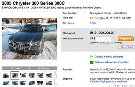 Obama Chrysler 300 by Barack Obama S Chrysler 300c For Sale For 1 Million On