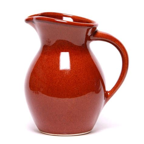 Copper Kitchen Canisters ceramic iced tea pitcher copper clay glaze