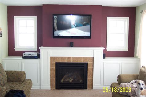 Mount Tv Above Fireplace Hide Wires by How Should I Run Wiring For Above Fireplace Mounted Tv