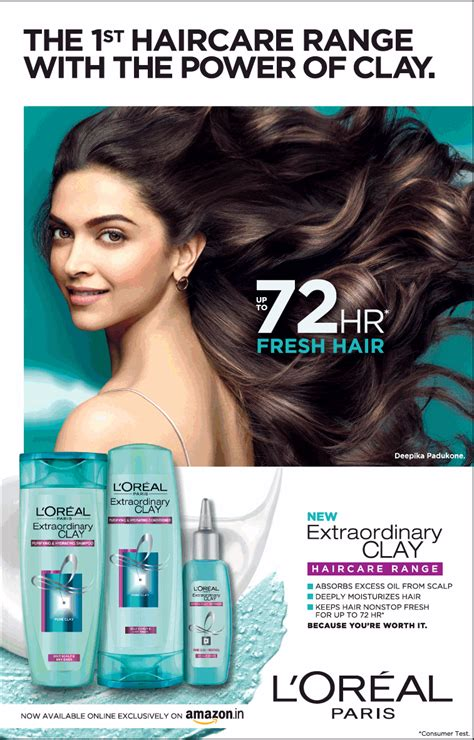 The Power Of Ads by Loreal The 1st Haircare Range With The Power Of Clay