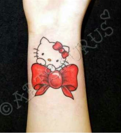 hello kitty on bow tattoo tattoo