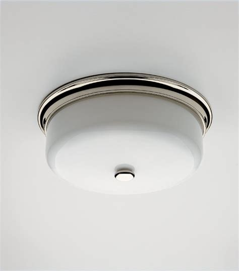 ceiling mounted lighting with white glass shade