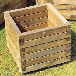 square wooden planters these living outdoors