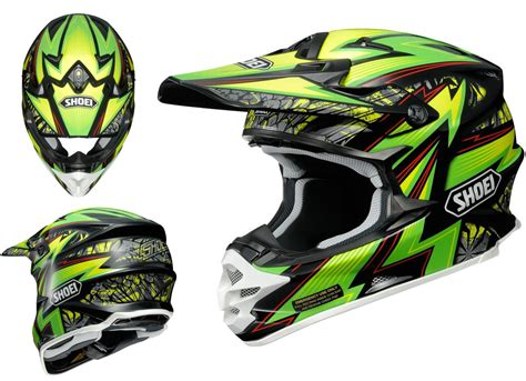shoei motocross helmet shoei vfx w motocross mx helmet maelstrom tc 4 green