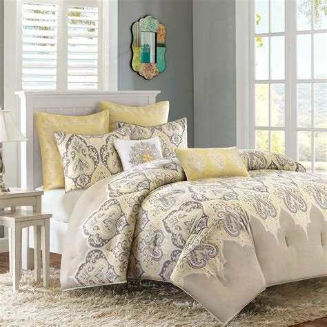 exotic comforters beautiful modern tropical beach ocean yellow beige tan
