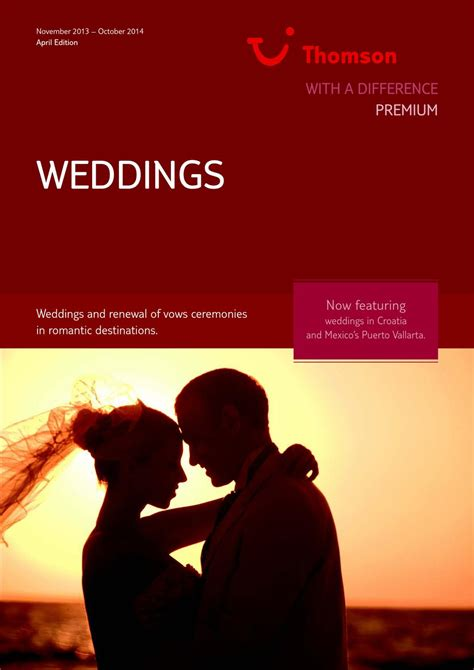Lapland Wedding Brochure by Thomson Wedding Brochure By Adriano Comegna Issuu