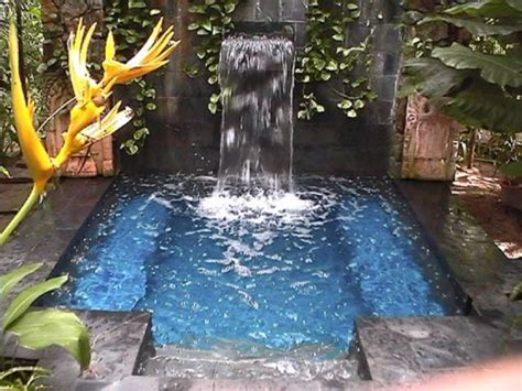 diy pool waterfall 28 cool plunge swimming pools for outdoors digsdigs